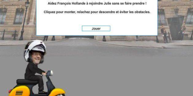 Un juego que ayuda a Hollande a reunirse con su amante causa sensación en