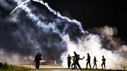 Disturbios en el campamento de Calais antes de su