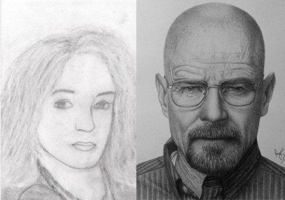 Estos dibujos del antes y después de algunos artistas demuestran cómo practicando se puede