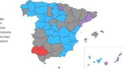 Las cinco provincias donde habrá vuelco
