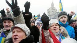 Decenas de miles de ucranianos vuelven a protestar contra su