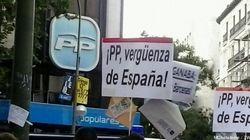Concentración en Génova: 'Rajoy y Cospedal, a Soto del Real' (FOTOS,