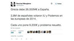 Un concejal del PP propone que votantes de Podemos e IU paguen la deuda