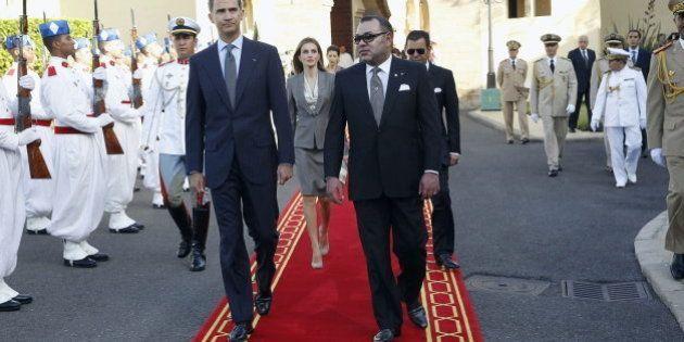 Mohamed VI recibe con su familia a los reyes en Rabat
