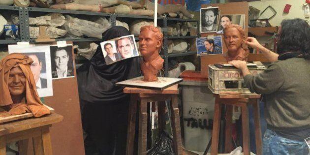El debate electoral más loco: 'cara a cera' en el Museo de