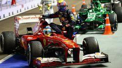 Alonso, reprendido por hacer de 'taxista' de Webber