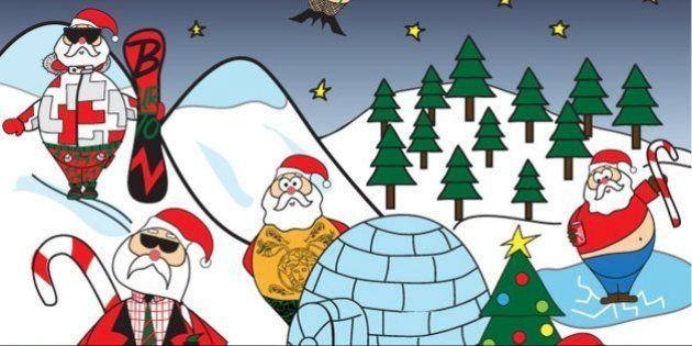 Papá Noel, a la moda: ¿de quién va