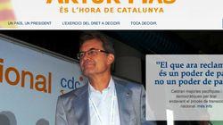La web de Artur Mas: bandera de la UE y ni rastro de