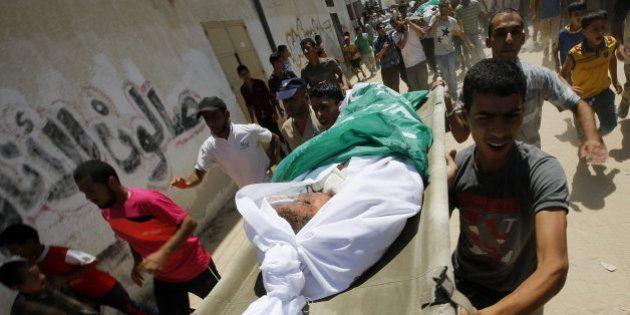Más de 2.040 palestinos han muerto por los bombardeos