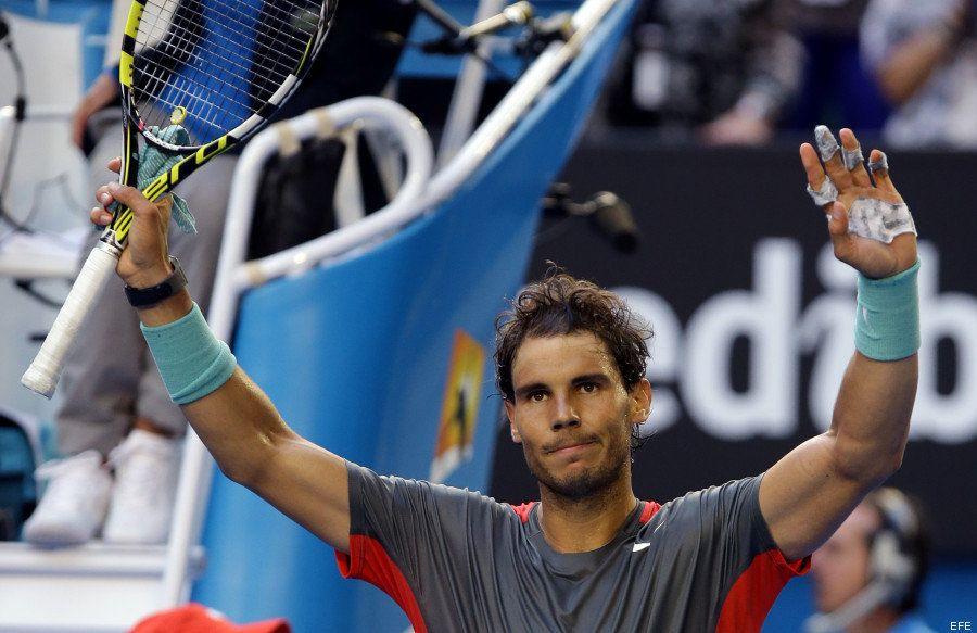 Rafa Nadal pasa a cuartos de final del Open de Australia pese a las ampollas en su