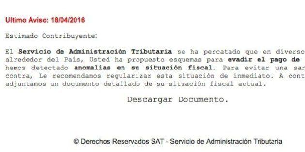 Si recibes este correo sobre tu situación fiscal... ¡no
