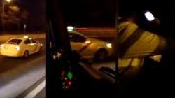 Sobrecogedor: un taxista kamikaze siembra el pánico en Madrid