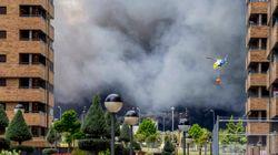 Baja la gravedad del incendio de Seseña y los vecinos pueden volver a su