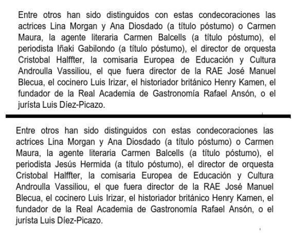 El Ministerio de Cultura se disculpa tras concederle una medalla a Iñaki Gabilondo