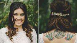 19 novias que supieron sacar partido a sus tatuajes el día de su boda