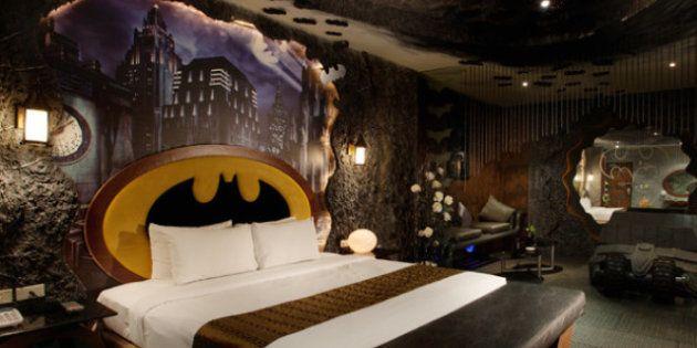 Hotel Batman: en Taiwán es posible dormir en una habitación Batcueva