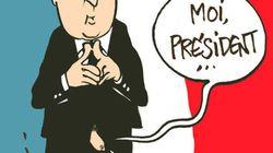 Hollande, con el pene al aire en un satírico francés