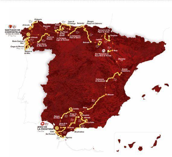Recorrido de la Vuelta a España: Por dónde pasan los