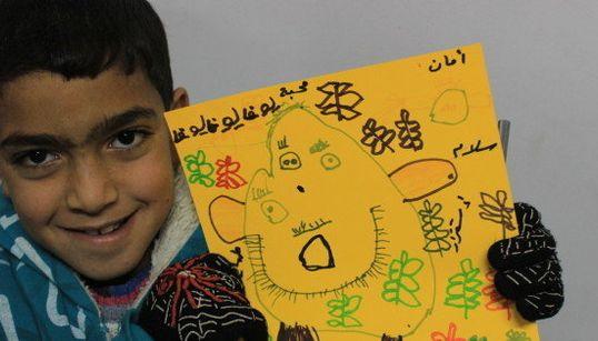 11 niños sirios dibujan la guerra