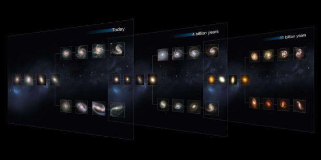 Fotos de galaxias: así eran hace 11.000 millones de