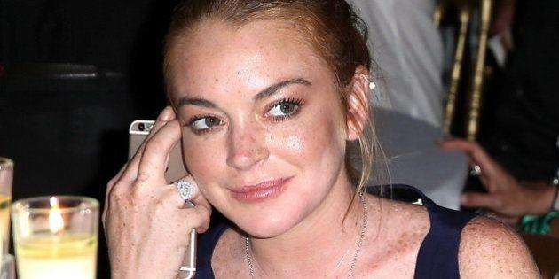 Lindsay Lohan pierde parte de un dedo en un accidente de