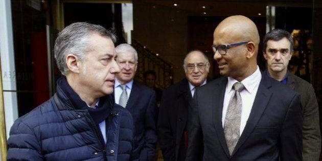 Urkullu apoya a los verificadores en Madrid antes de declarar ante el
