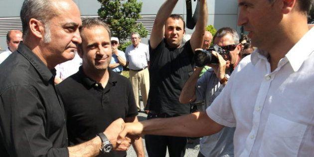 Martín Garitano, diputado general de Gipuzkoa, acude por primera vez al homenaje a una víctima de