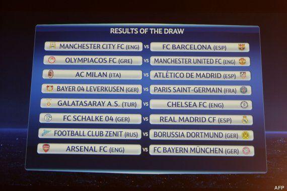 Sorteo Champions League: Barcelona-Manchester City, Atlético de Madrid-Milán y Real Madrid-Schalke 04,...