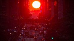 La esperada alineación solar con las calles de Manhattan