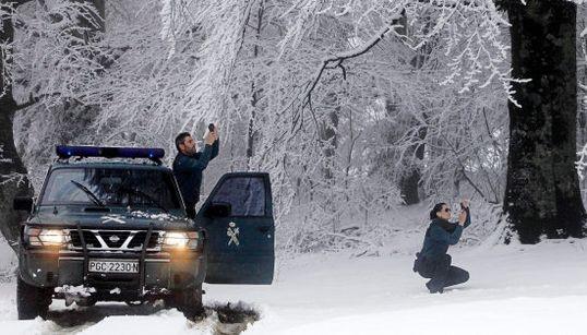 Las fotazas de la primera nieve del