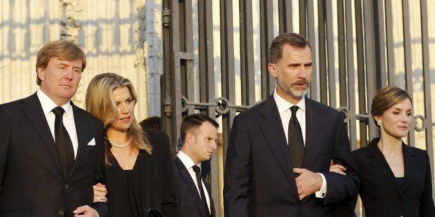 Funeral de Kardam de Bulgaria: los reyes de Holanda con Felipe y Letizia... y la reaparición de la infanta