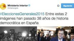 Interior la lía al sacar a Suárez y a Rajoy juntos en un