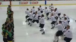 Impresionante la 'haka' de la selección de hockey de Nueva Zelanda