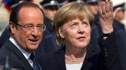 Merkel, junto a Hollande: