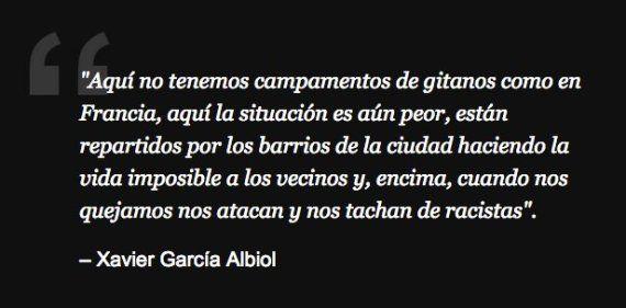 Las frases más racistas y xenófobas de Xavier García Albiol, candidato del PP en