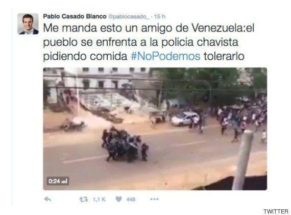 Pablo Casado la lía en Twitter con un vídeo de Venezuela y se ve obligado a
