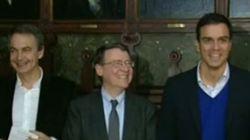 Pedro Sánchez y Zapatero coinciden en un acto... y no se dan la