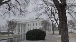 La Casa Blanca, más blanca que nunca por un nuevo temporal