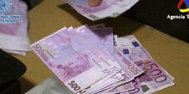Desarticulada la mayor red de falsificación de billetes en