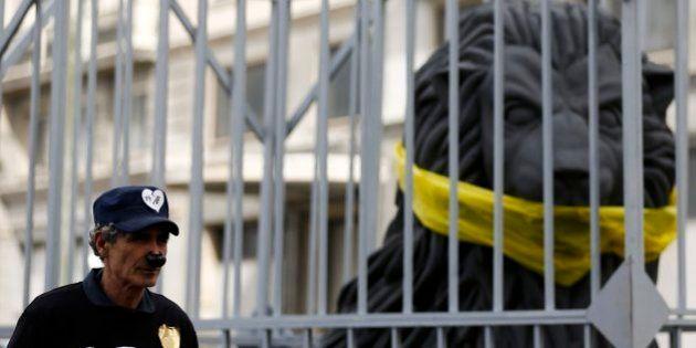 El león enjaulado, el símbolo de la marcha contra la 'Ley Mordaza'