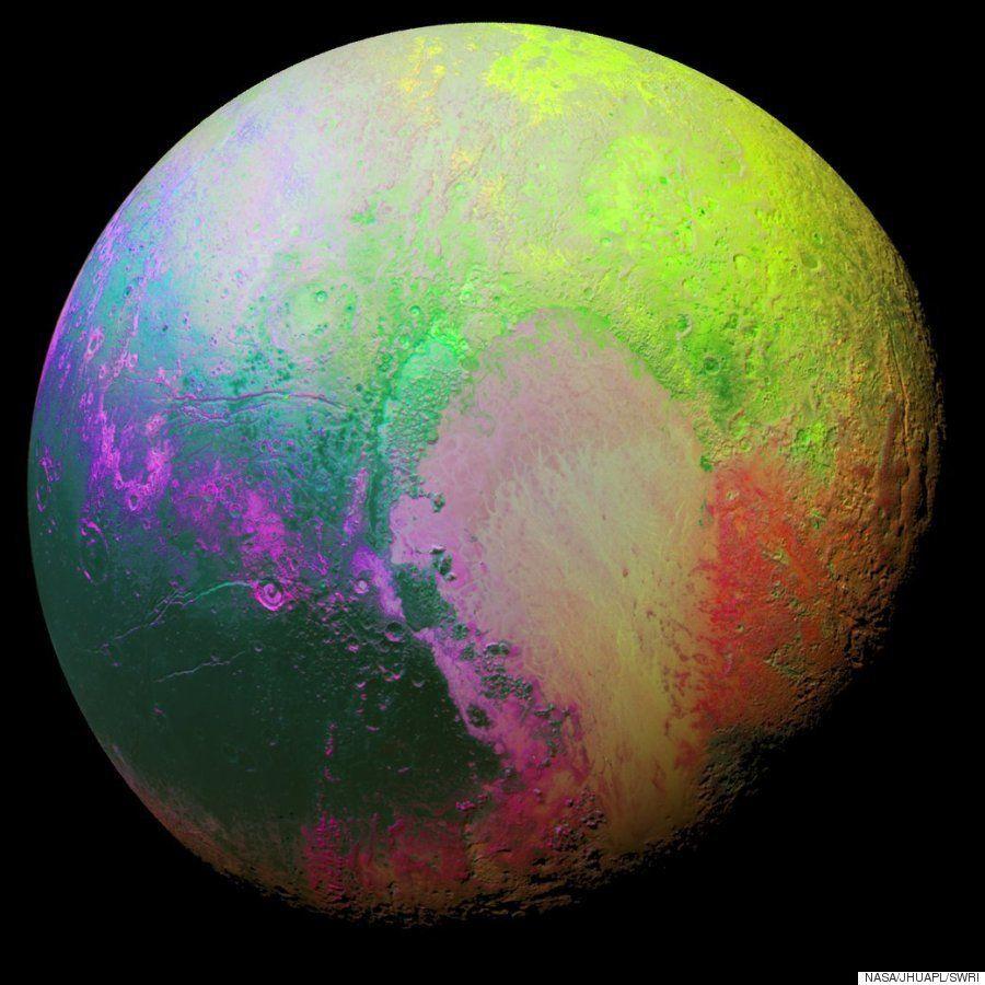 Esta colorida imagen de la NASA muestra el lado más psicodélico de
