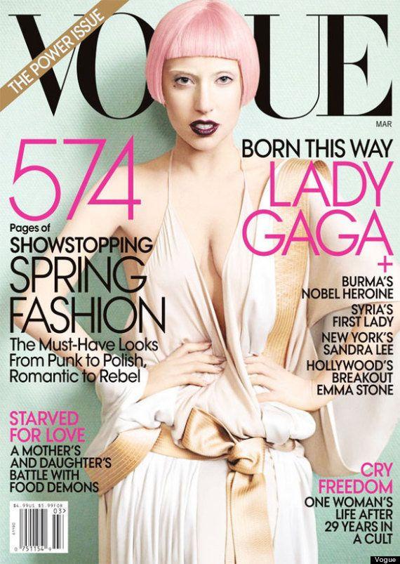 Lady Gaga: portada de Vogue USA en septiembre de 2012