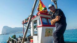 Protesta pacífica de pesqueros españoles ante