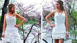 Nunca adivinarías de qué están hechos estos vestidos de novia