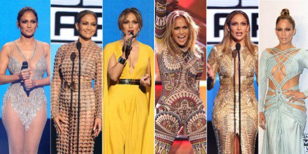 Los mil y un 'looks' de Jennifer Lopez en los American Music