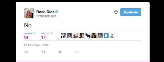 El enigmático tuit que Rosa Díez ha borrado tras la debacle de