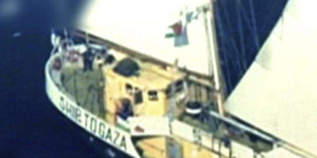 La marina israelí aborda el velero 'Estelle', un barco de activistas propaliestinos que se dirigía a
