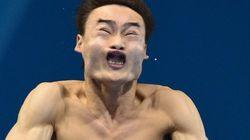 Las caras más espantosas de las pruebas de trampolín