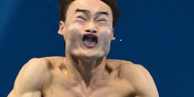 Juegos Londres 2012: las caras más espantosas de las pruebas de trampolín