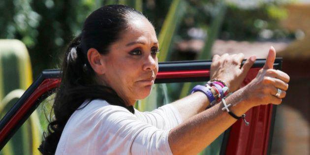 ALCALA DE GUADAIRA, SPAIN - JUNE 05: Isabel Pantoja goes back to prison on June 5, 2015 in Alcala de...